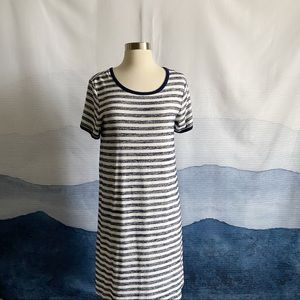 Market & Spruce Striped Short Sleeve T-Shirt Dress